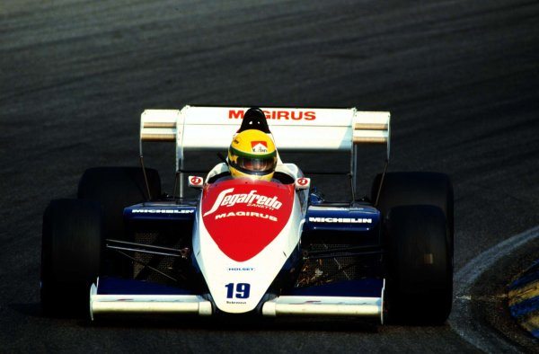 1984 Dutch Grand Prix.Zandvoort, Holland.24-26 August 1984.Ayrton Senna (Toleman TG184 Hart). 