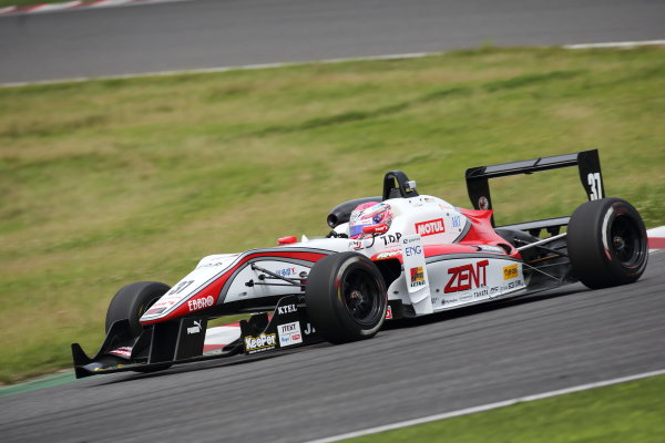 2016 Japanese Formula 3 Championship Suzuka, Japan. 11th- 12th June 2016. Rd 7 & 8. 2nd position Sho Tsuboi ( #37 ZENT TOM'S F314 ) action. World Copyright: Yukio Yoshimi / LAT Photographic. Ref: 2016JF3_Rd7&8_003