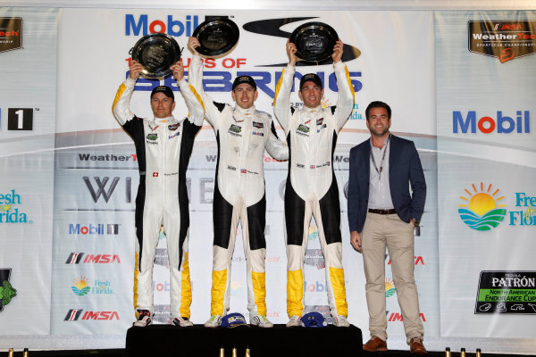 16-19 March, 2016, Sebring, Florida, USA , 4, Chevrolet, Corvette C7, GTLM, Oliver Gavin, Tommy Milner, Marcel Fassler, podium ?2016, Michael L. Levitt LAT Photo USA
