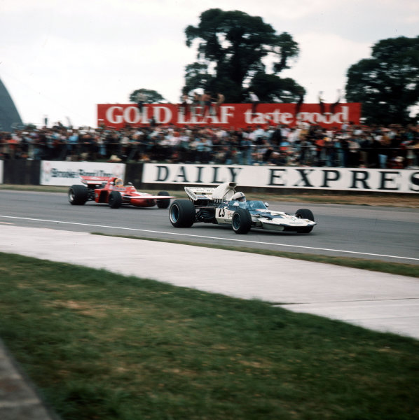Silverstone, England.15-17 July 1971.John Surtees (Surtees TS9 Ford) 6th position.Ref-3/4765T.World Copyright - LAT Photographic