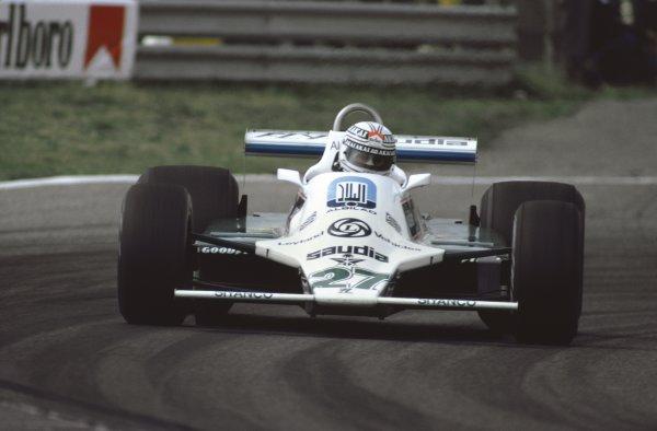 1980 Dutch Grand Prix.Zandvoort, Holland. 29 - 31 August 1980.Alan Jones (Williams FW07B-Ford Cosworth), 11th position, action.World Copyright: LAT Photographic
