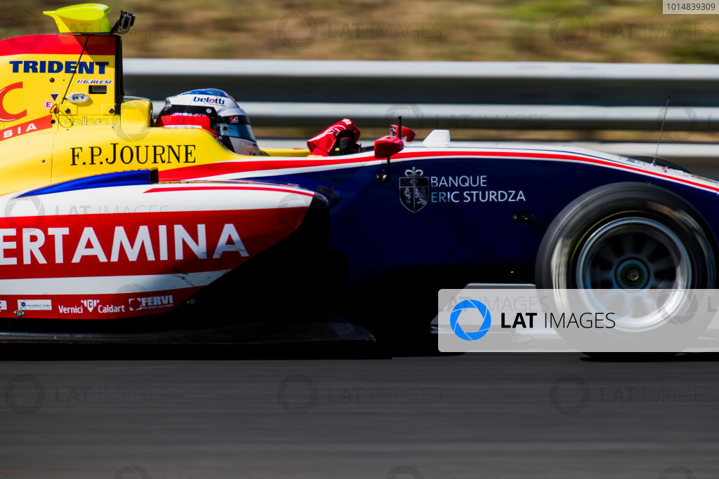 2017 GP3 Series Test 4.  Hungaroring, Budapest, Hungary. Wednesday 7 June 2017. Giuliano Alesi (FRA, Trident)  Photo: Zak Mauger/GP3 Series Media Service. ref: Digital Image _56I2398