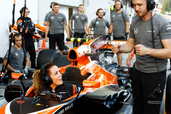 Red Bull Ring, Spielberg, Austria. Thursday 06 July 2017. The McLaren team organise an all-female pit stop. World Copyright: Steven Tee/LAT Images ref: Digital Image _O3I4878