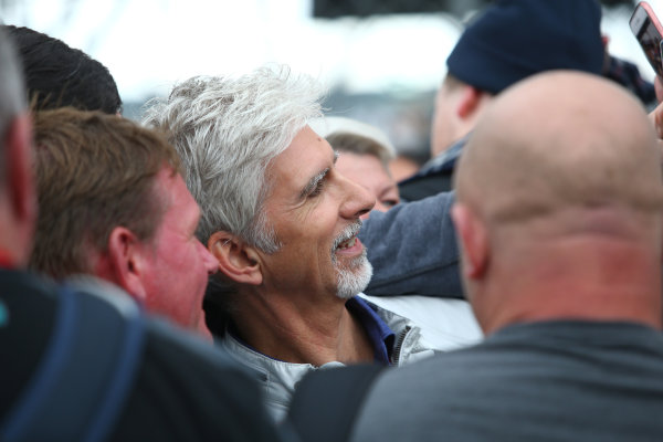 Silverstone, Northamptonshire, UK.  Thursday 13th July 2017. Damon Hill (GBR)  World Copyright: JEP/LAT Images