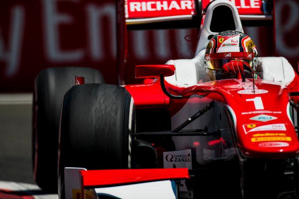 2017 FIA Formula 2 Round 4. Baku City Circuit, Baku, Azerbaijan. Friday 23 June 2017. Charles Leclerc (MCO, PREMA Racing)  Photo: Zak Mauger/FIA Formula 2. ref: Digital Image _54I0135