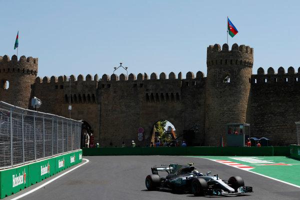 Baku City Circuit, Baku, Azerbaijan. Friday 23 June 2017. Valtteri Bottas, Mercedes F1 W08 EQ Power+.  World Copyright: Glenn Dunbar/LAT Images ref: Digital Image _31I9231
