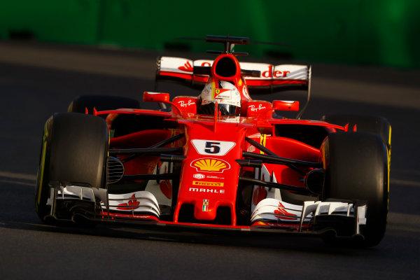 Baku City Circuit, Baku, Azerbaijan. Friday 23 June 2017. Sebastian Vettel, Ferrari SF70H.  World Copyright: Steven Tee/LAT Images ref: Digital Image _O3I1712