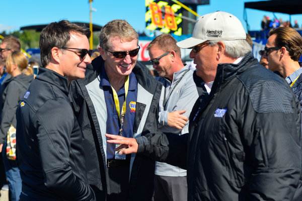 23-25 September, 2016, Loudon, New Hampshire USA Jeff Gordon, Bill Elliott, Rick Hendrick  ?2016, Logan Whitton  LAT Photo USA