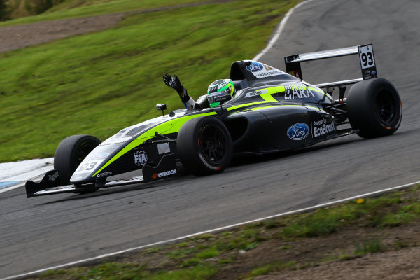 2016 British Formula 4 Championship, Knockhill, Scotland. 12th - 14th August 2016. Zane Goddard (AUS) Double R Racing Ford British F4. World Copyright: Ebrey / LAT Photographic.