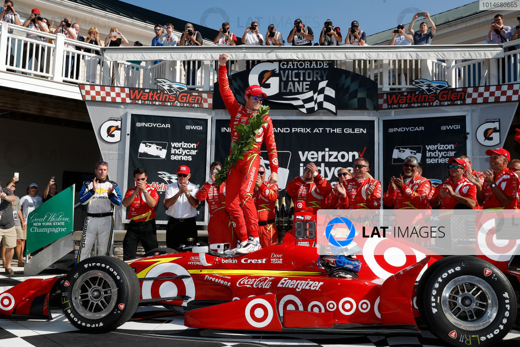 2-4 September, 2016, Watkins Glen, New York USA Scott Dixon celebrates in victory lane ?2016, Michael Levitt LAT Photo USA
