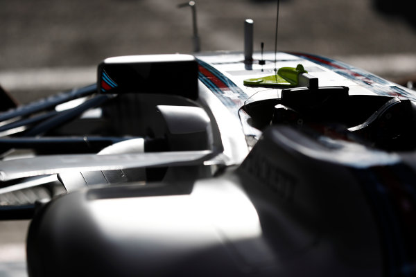 Spa Francorchamps, Belgium.  Thursday 24 August 2017. Williams cockpit detail in the team's garage. World Copyright: Glenn Dunbar/LAT Images  ref: Digital Image _X4I4092