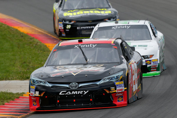 NASCAR XFINITY Series Zippo 200 at The Glen Watkins Glen International, Watkins Glen, NY USA Saturday 5 August 2017 Dakoda Armstrong, JGL Racing Toyota Camry and Kevin Harvick, FIELDS Ford Mustang World Copyright: Russell LaBounty LAT Images