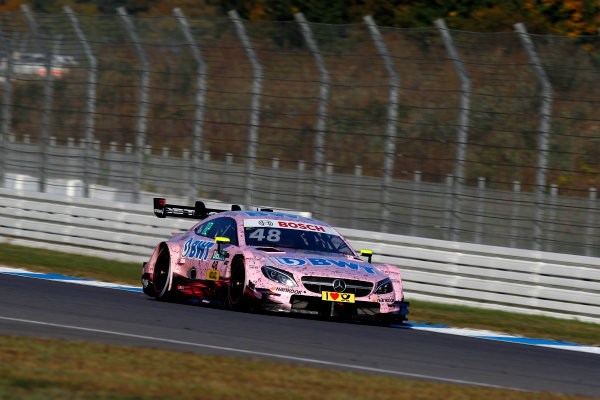 2017 DTM Round 9  Hockenheimring, Germany  Sunday 15 October 2017. Edoardo Mortara, Mercedes-AMG Team HWA, Mercedes-AMG C63 DTM  World Copyright: Alexander Trienitz/LAT Images ref: Digital Image 2017-DTM-HH2-AT3-1909