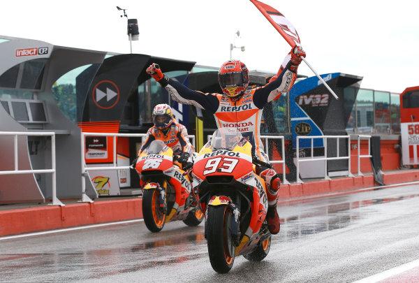 2017 MotoGP Championship - Round 13 Misano, Italy. Sunday 10 September 2017 Race winner Marc Marquez, Repsol Honda Team World Copyright: Gold and Goose / LAT Images ref: Digital Image 7932