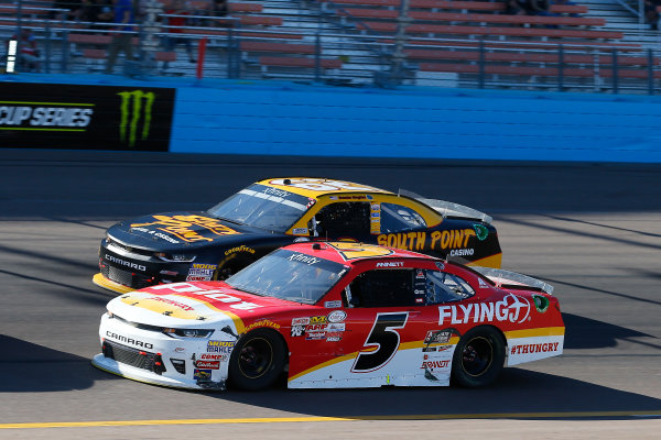 NASCAR XFINITY Series Ticket Galaxy 200 Phoenix Raceway, Avondale, AZ USA Saturday 11 November 2017 Michael Annett, Pilot Flying J Chevrolet Camaro and Brendan Gaughan, South Point Hotel & Casino Chevrolet Camaro World Copyright: Russell LaBounty LAT Images