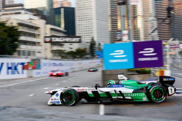 2017/2018 FIA Formula E Championship. Round 1 - Hong Kong, China. Saturday 02 December 2017. Lucas Di Grassi (BRA), Audi Sport ABT Schaeffler, Audi e-tron FE04. Photo: Sam Bloxham/LAT/Formula E ref: Digital Image _W6I5509