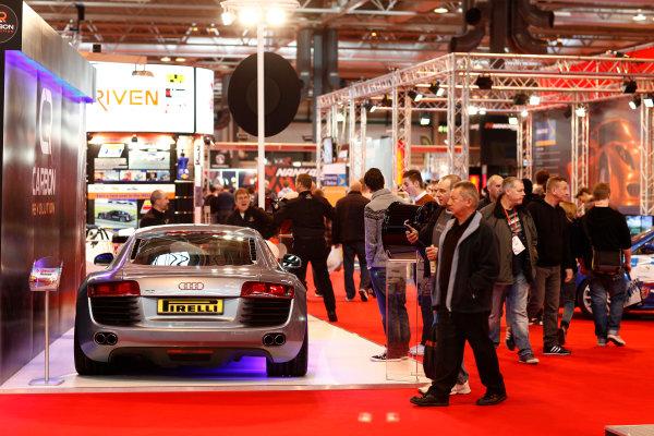 Autosport International Show NEC, Birmingham.  Sunday 12 January 2014. Audi R8. World Copyright:Adam Warner/LAT Photographic ref: Digital Image _MG_8382