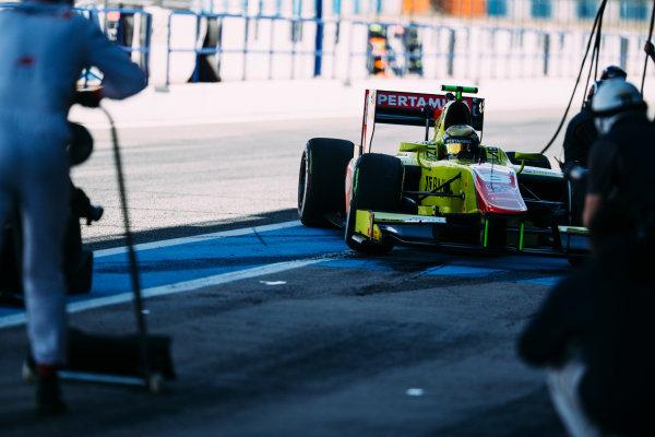 2016 GP2 Series Testing. Jerez, Spain. Thursday 31 March 2016 Sean Gelael (INA) Jagonya Ayam Campos Racing  World Copyright: Malcolm Griffiths/LAT Photographic. ref: Digital Image _G7C9587