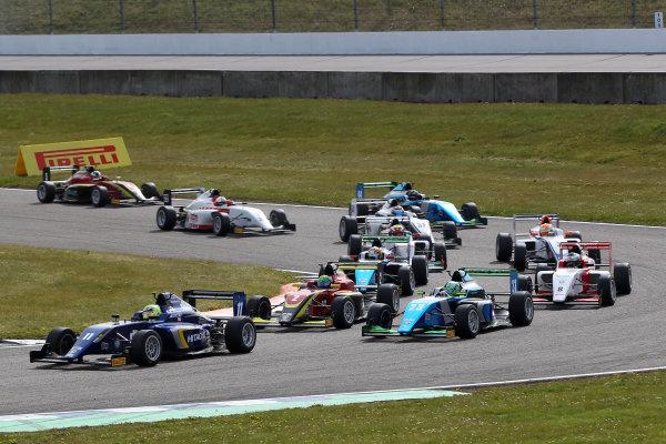 2016 BRDC British Formula 3 Championship, Rockingham, Northamptonshire.  30th April - 1st May 2016. Ricky Collard (GBR) Carlin BRDC F3. World Copyright: Ebrey / LAT Photographic.
