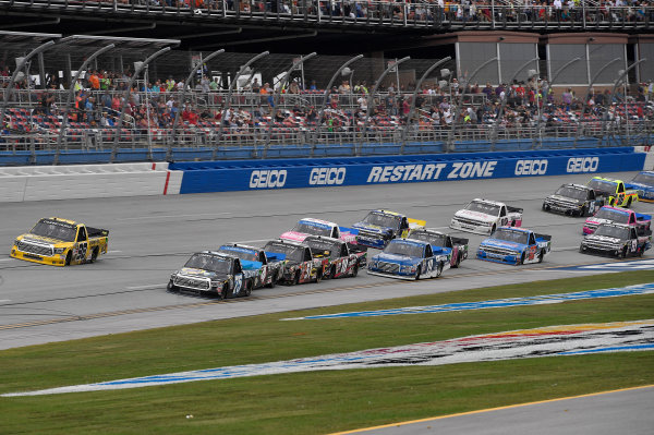 NASCAR Camping World Truck Series Fred's 250 Talladega Superspeedway Talladega, AL USA Saturday 14 October 2017 Christopher Bell, Toyota Toyota Tundra and Parker Kligerman, Food Country USA / Lopez Wealth Management/Tide Pods Toyota Tundra World Copyright: Rusty Jarrett LAT Images