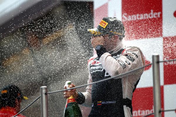 Circuit de Catalunya, Barcelona, Spain13th May 2012Pastor Maldonado, Williams F1 Team, 1st position, sprays the Champagne.World Copyright: Andy Hone/LAT Photographicref: Digital Image HONY9297