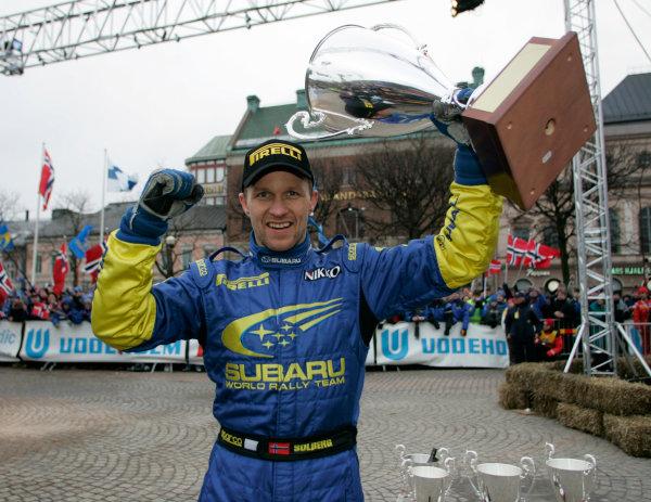 2005 FIA World Rally Championship. Round 2, Swedish Rally. 10th-13th February 2005. Petter Solberg, Subaru. World Copyright: McKlein/LAT Photographic. ref: Digital Image Only.