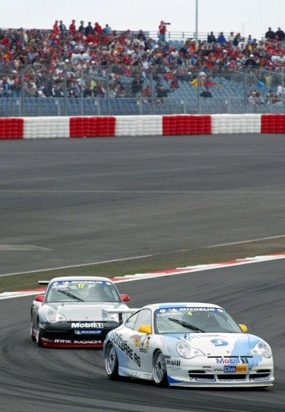Marcel Tiemann (GER) Infineon finished fourth.Porsche Supercup Rd5,Nurburgring, Germany, 23 June 2002.DIGITAL IMAGE
