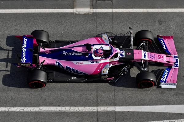 Lance Stroll, SportPesa Racing Point F1 Team RP19 with aero sensor