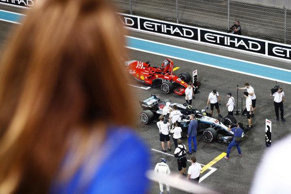 Lewis Hamilton, Mercedes AMG F1 W09 EQ Power+ celebrates after taking pole position