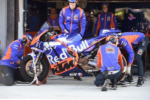 Red Bull KTM Tech 3 mechanics at work