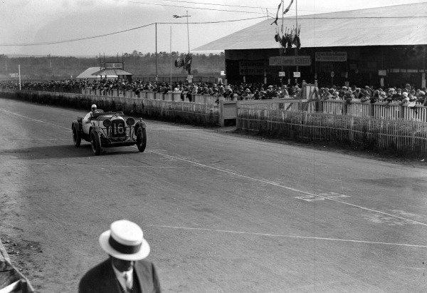 1929 Le Mans 24 hours.Le Mans, France. 15-16 June 1929.Tim Rose-Richards/Brian Lewis (Lagonda).Ref-Motor 720/6.World Copyright - LAT Photographic