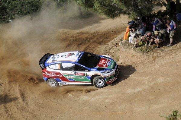 Mikko Hirvonen (FIN), Ford Fiesta RS WRC, on the shakedown stage.FIA World Rally Championship, Rd5, Rally Italia Sardegna Shakedown, Olbia, Sardinia, Italy, Thursday 5 May 2011.