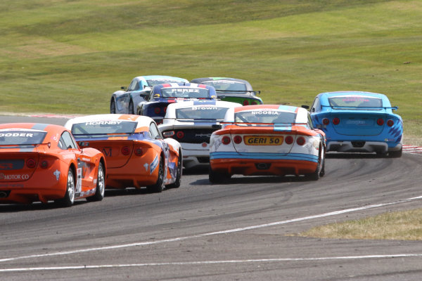 Ginetta Junior Championship, Oulton Park, 4-5 June 2016. Race action World copyright. Ebrey/LAT Photographic