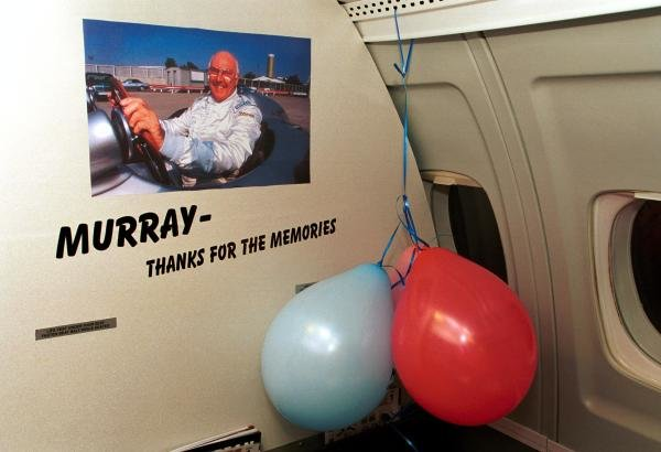 European Aviation and Minardi put on a farewell party for TV Commentator Murray Walker after he commentated on his final European Grand Prix. 