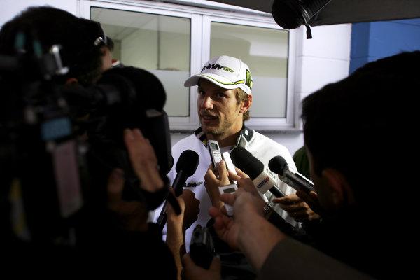 Interlagos, Sao Paulo, Brazil.16th October 2009.Jenson Button, Brawn GP BGP001 Mercedes. Portrait.World Copyright: Charles Coates/LAT Photographicref: Digital Image ZK5Y4948