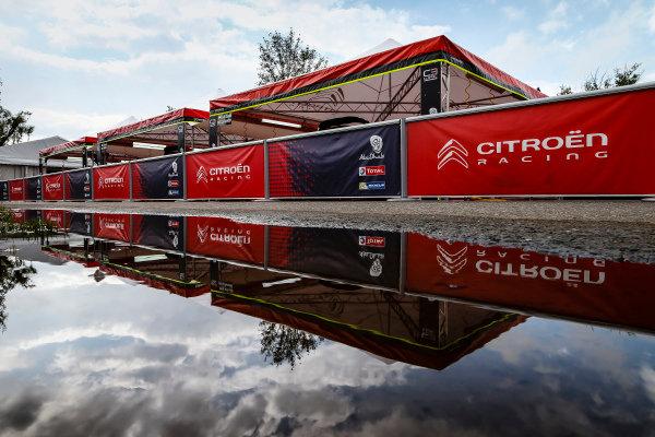 The Citroen service area within the Villa Carlos Paz WRC service park