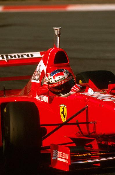 Spa-Francorchamps, Belgium.22-24 August 1997.Michael Schumacher (Ferrari F310B) 1st position.Ref-97 BEL 08.World Copyright - LAT Photographic