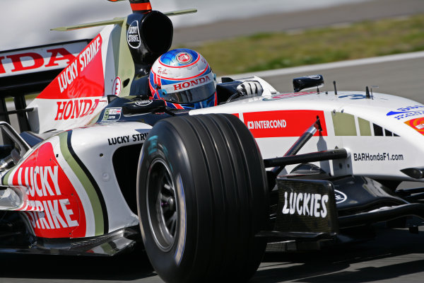 2005 European Grand Prix - Friday Practice,Nurburgring, Germany. 27th May 2005 Jenson Button, BAR Honda 007, action World Copyright: Steve Etherington/LAT Photographic ref: 48mb Hi Res Digital Image