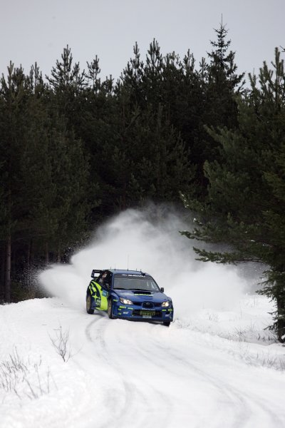2006 FIA World Rally Champs. Round two Swedish Rally.2nd-5th February 2006.Petter Solberg, Subaru, action.World Copyright: McKlein/LAT