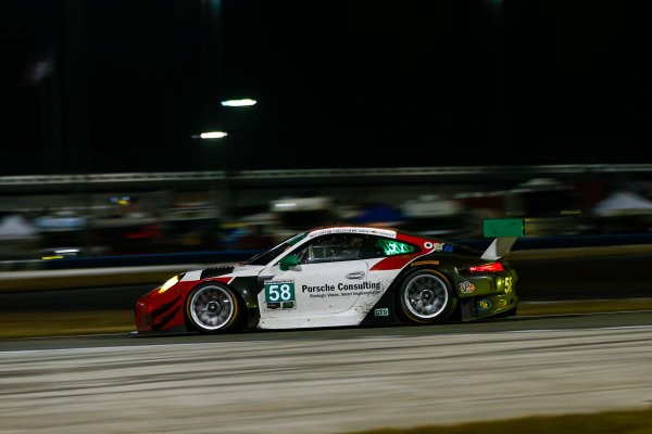 IMSA WeatherTech SportsCar Championship Rolex 24 Hours Daytona Beach, Florida, USA Sunday 28 January 2018 #58 Wright Motorsports Porsche 911 GT3 R, GTD: Patrick Long, Christina Nielsen, Robert Renauer, Mathieu Jaminet World Copyright: Jake Galstad LAT Images  ref: Digital Image galstad-DIS-ROLEX-0118-308277