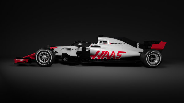 2018 FIA Formula 1 World Championship Haas VF-18 Livery Unveil 14 February 2018 Copyright: Free Editorial Use Only Credit: Haas F1