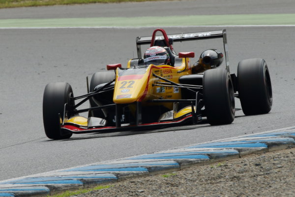2016 Japanese Formula 3 Championship. Motegi, Japan. 20th - 21st August 2016. Rd 11 & 12. Round 12 Winner Jann Mardenborough ( #22 B-MAX NDDP F3 ) action World Copyright : Yasushi Ishihara/LAT Photographic Ref : 2016JF3_R11&12_010