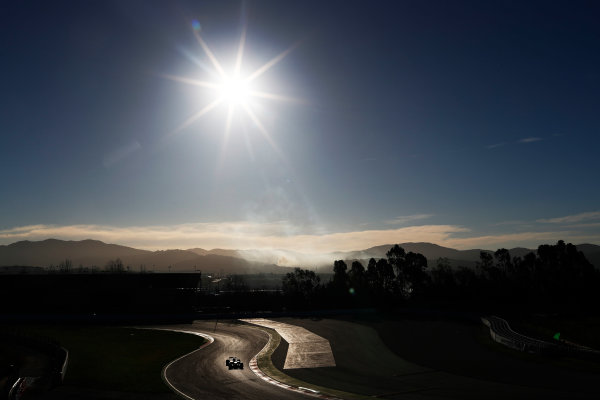 Circuit de Barcelona Catalunya, Barcelona, Spain. Tuesday 07 March 2017. A car heads on to the track and is greeted by a green flag. World Copyright: Glenn Dunbar/LAT Images ref: Digital Image _X4I4301