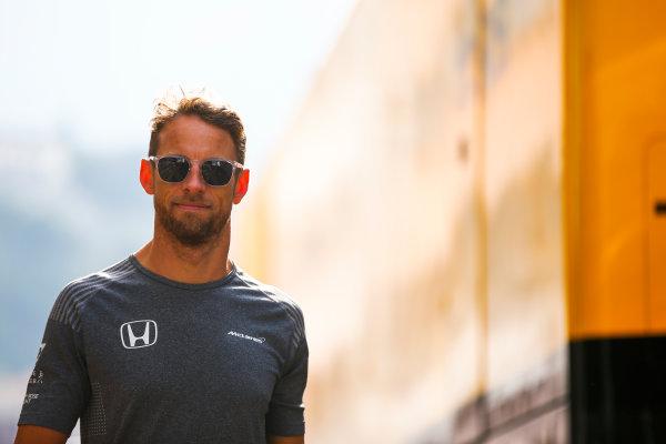 Monte Carlo, Monaco. Thursday 25 May 2017. Jenson Button, McLaren. World Copyright: Andy Hone/LAT Images ref: Digital Image _ONZ9587