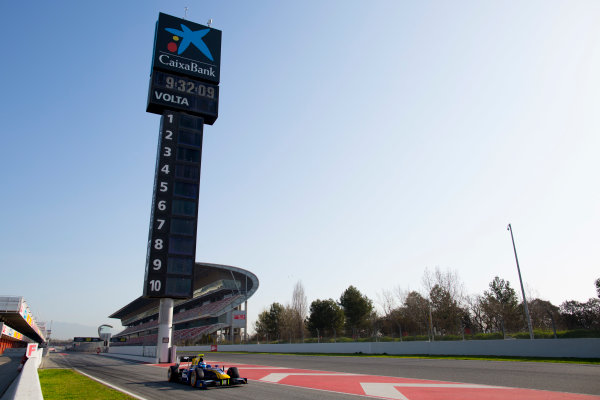 Circuit de Barcelona Catalunya, Barcelona, Spain. Tuesday 14 March 2017. Nicholas Latifi (CAN, DAMS). Action.  Photo: Alastair Staley/FIA Formula 2 ref: Digital Image 580A0743