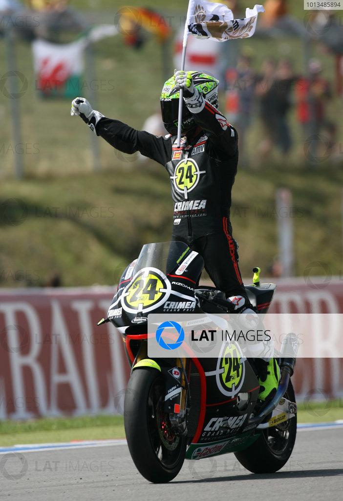Czech Republic Brno 13-15 August 2010Toni Elias Gresini Racing Moto2 Moriwaki celebrates his win