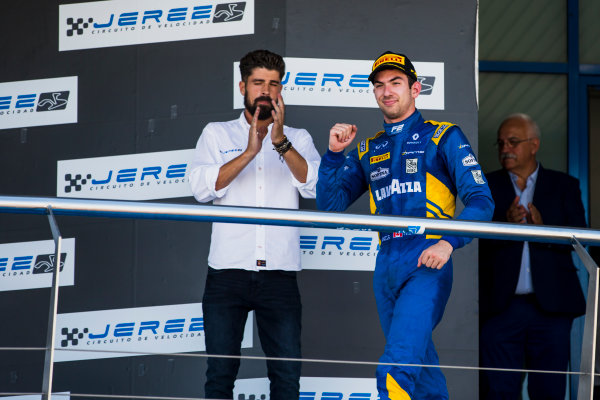 2017 FIA Formula 2 Round 10. Circuito de Jerez, Jerez, Spain. Sunday 8 October 2017. Nicholas Latifi (CAN, DAMS).  Photo: Zak Mauger/FIA Formula 2. ref: Digital Image _X0W2877