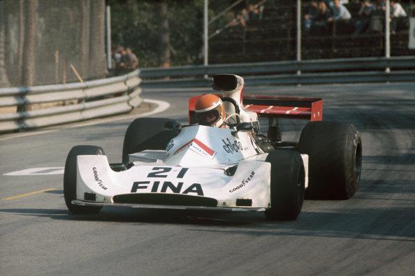 Montjuich Park, Barcelona, Spain. 27 April 1975. Tony Brise, Williams FW Ford, 7th position. Ref: 75ESP16. World Copyright: LAT Photographic