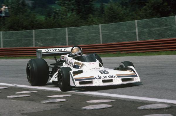 Osterreichring, Zeltweg, Austria. 12-14 August 1977. Vern Schuppan, Surtees TS19 Ford, 16th position. Ref: 77AUT19. World Copyright - LAT Photographic