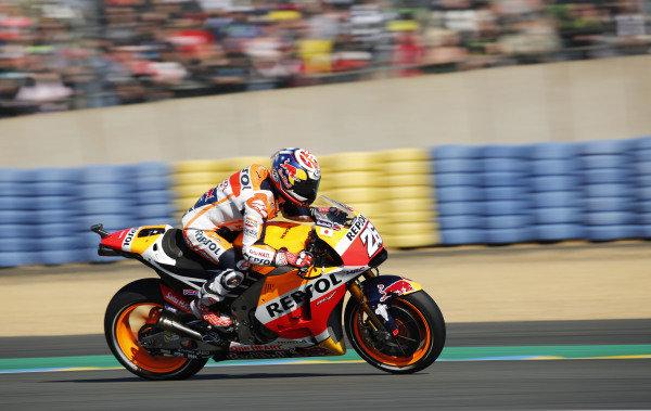 2016 MotoGP Championship.  French Grand Prix.  Le Mans, France. 6th - 8th May 2016.  Dani Pedrosa, Honda.   Ref: _W5_2420a. World copyright: Kevin Wood/LAT Photographic